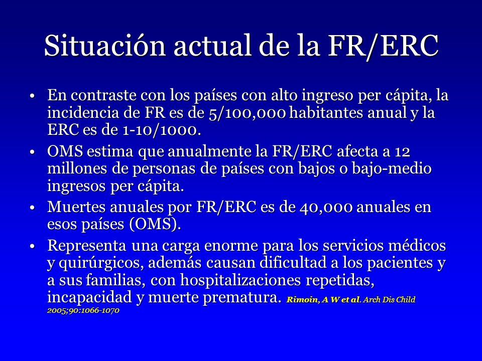 Situación actual de la FR/ERC