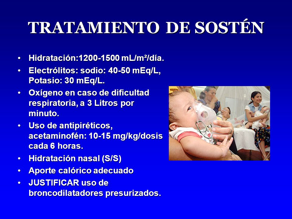 TRATAMIENTO DE SOSTÉN Hidratación:1200-1500 mL/m²/día.