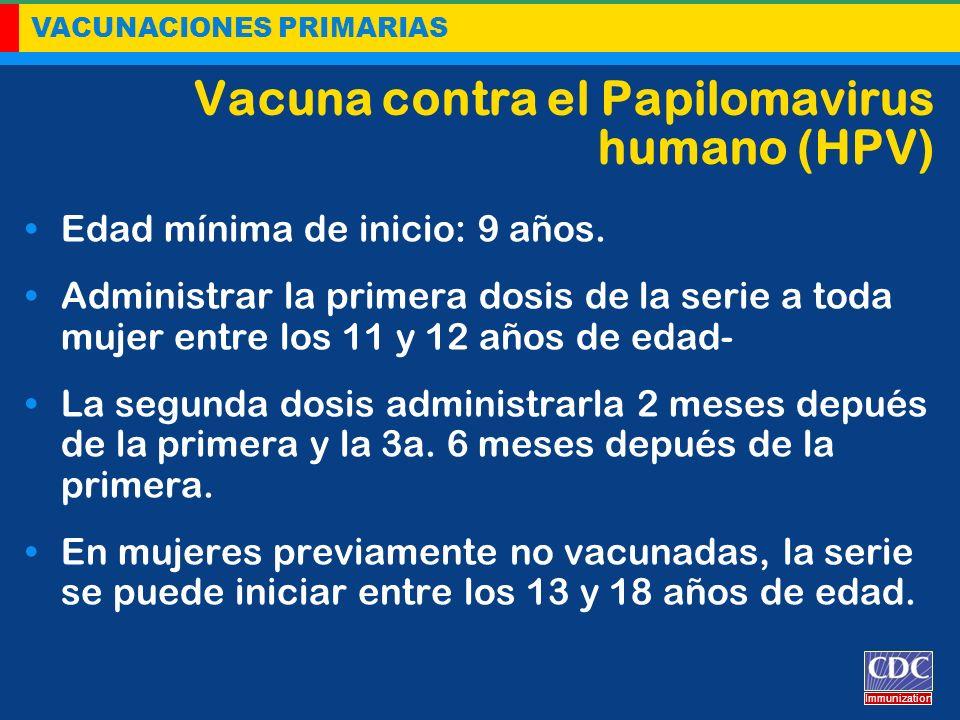 Vacuna contra el Papilomavirus humano (HPV)