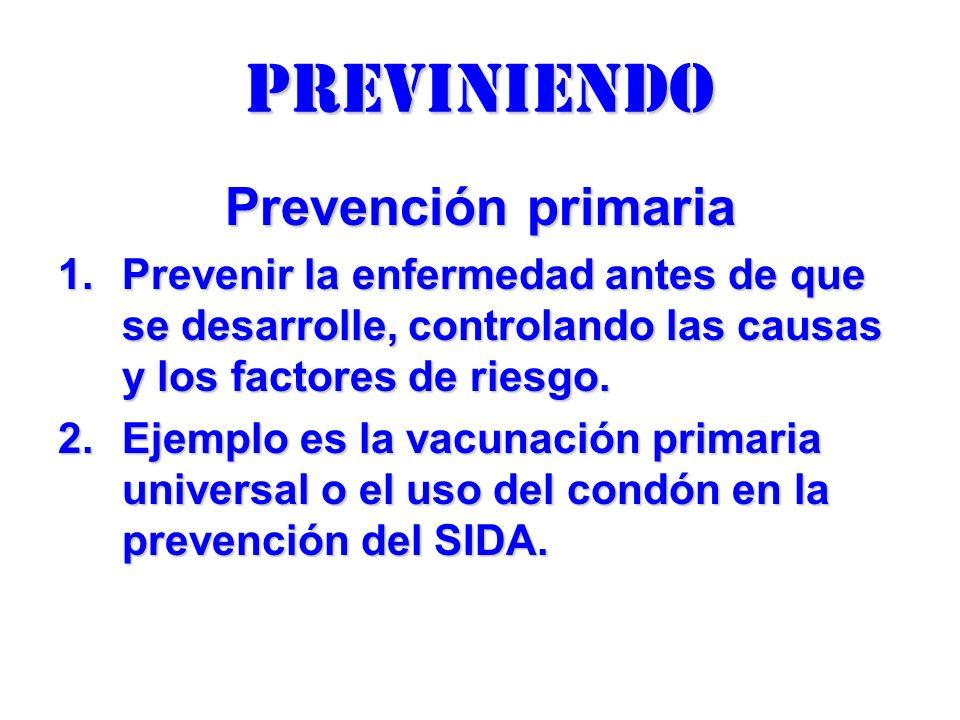 previniendo Prevención primaria