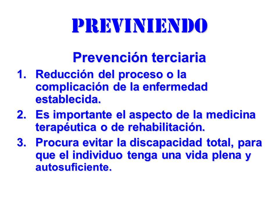 previniendo Prevención terciaria