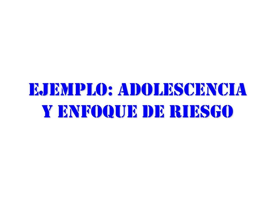 Ejemplo: Adolescencia y enfoque de riesgo