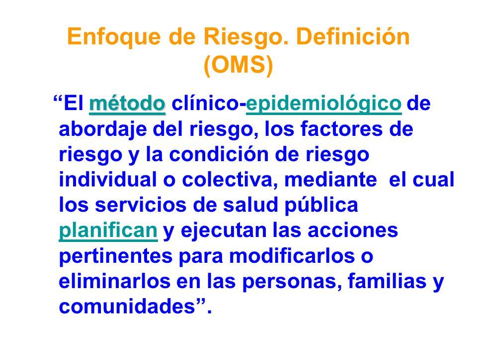 Enfoque de Riesgo. Definición (OMS)