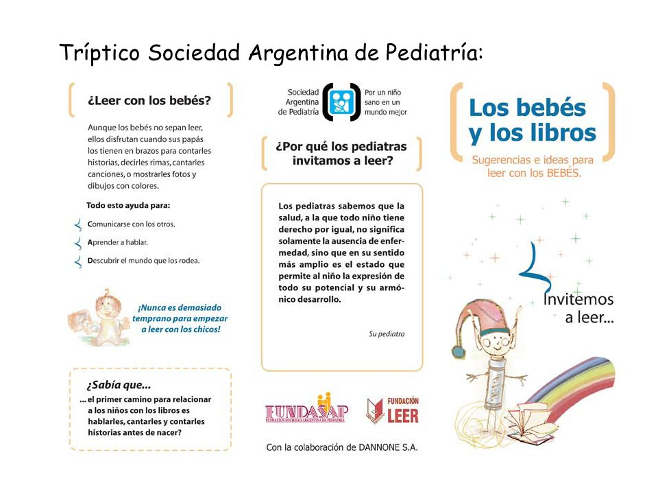 Tríptico Sociedad Argentina de Pediatría: