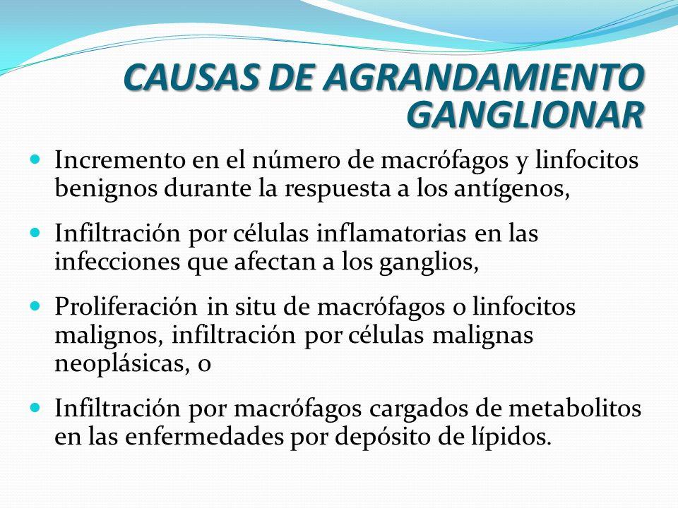 CAUSAS DE AGRANDAMIENTO GANGLIONAR