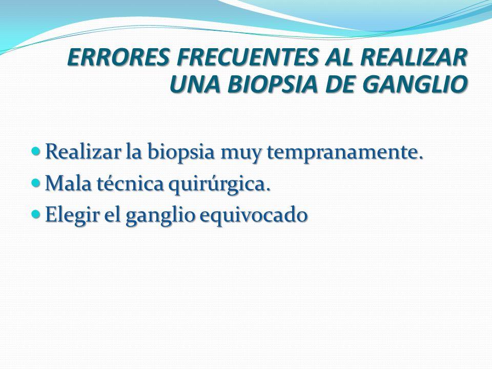 ERRORES FRECUENTES AL REALIZAR UNA BIOPSIA DE GANGLIO