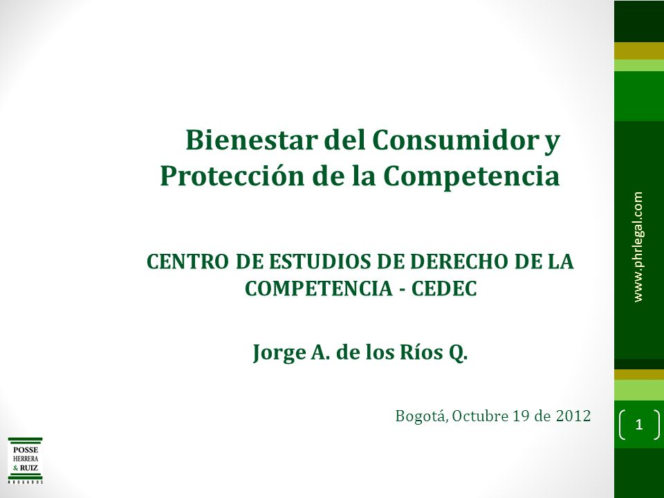 CENTRO DE ESTUDIOS DE DERECHO DE LA COMPETENCIA - CEDEC