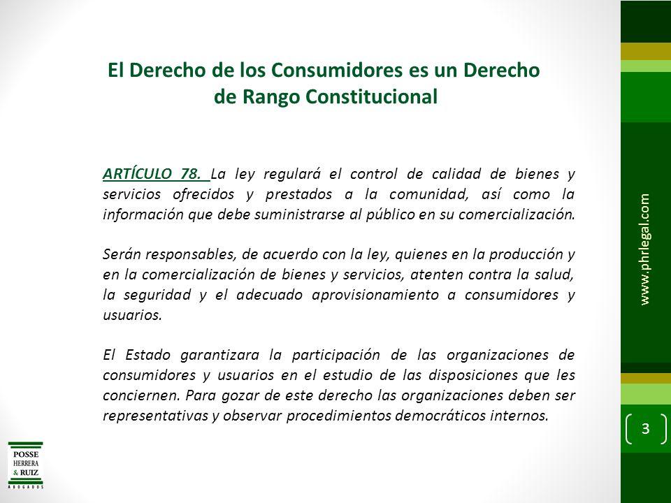 El Derecho de los Consumidores es un Derecho de Rango Constitucional