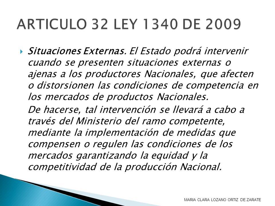 ARTICULO 32 LEY 1340 DE 2009