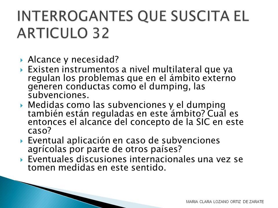 INTERROGANTES QUE SUSCITA EL ARTICULO 32