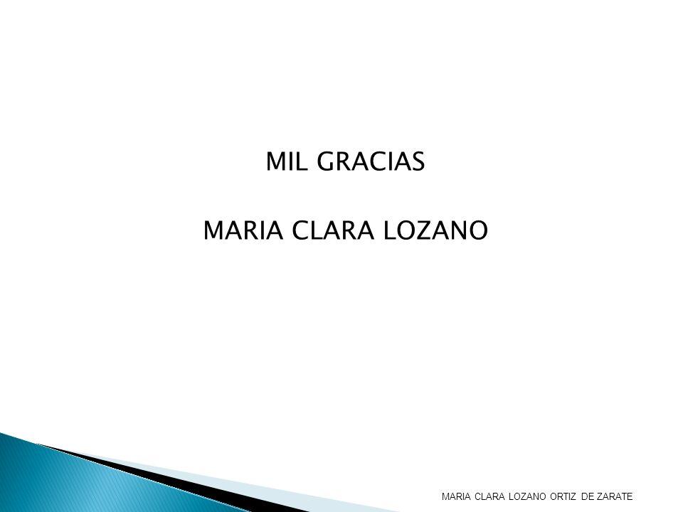 MIL GRACIAS MARIA CLARA LOZANO MARIA CLARA LOZANO ORTIZ DE ZARATE