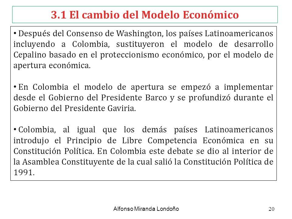 3.1 El cambio del Modelo Económico