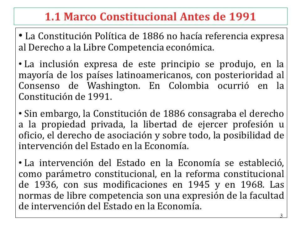 1.1 Marco Constitucional Antes de 1991