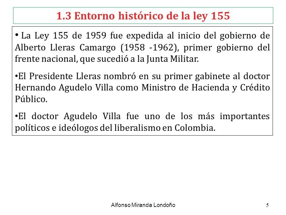 1.3 Entorno histórico de la ley 155