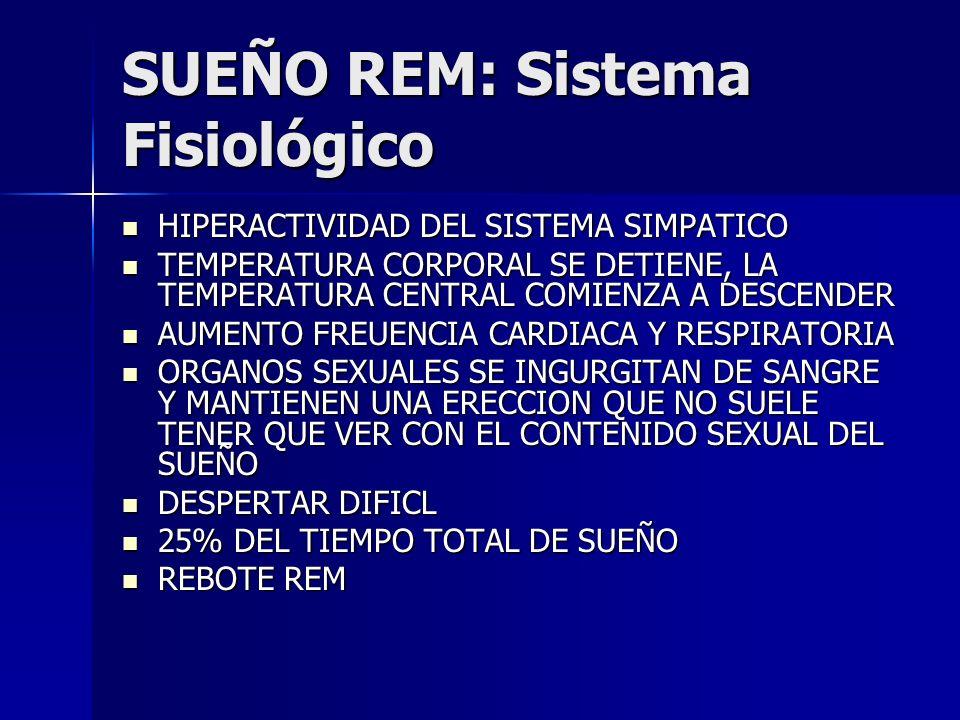 SUEÑO REM: Sistema Fisiológico