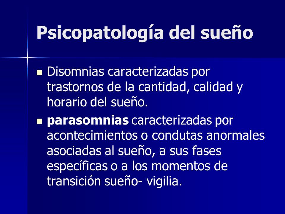 Psicopatología del sueño