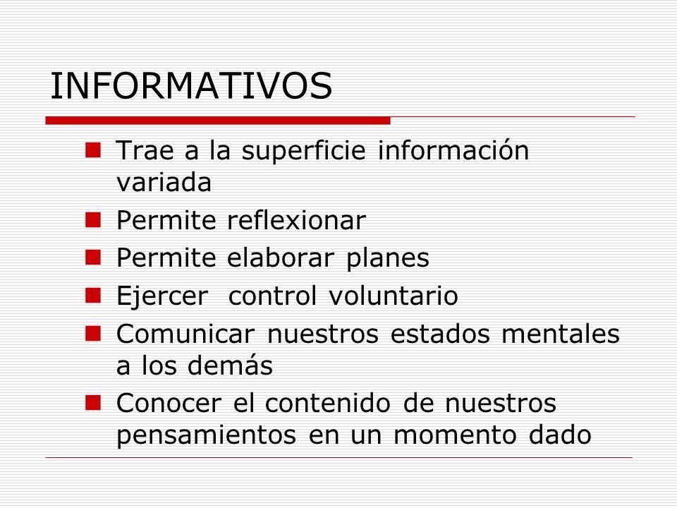 INFORMATIVOS Trae a la superficie información variada