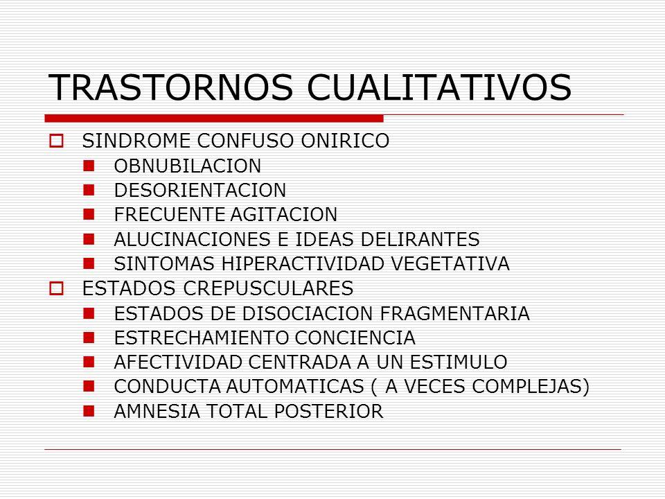 TRASTORNOS CUALITATIVOS