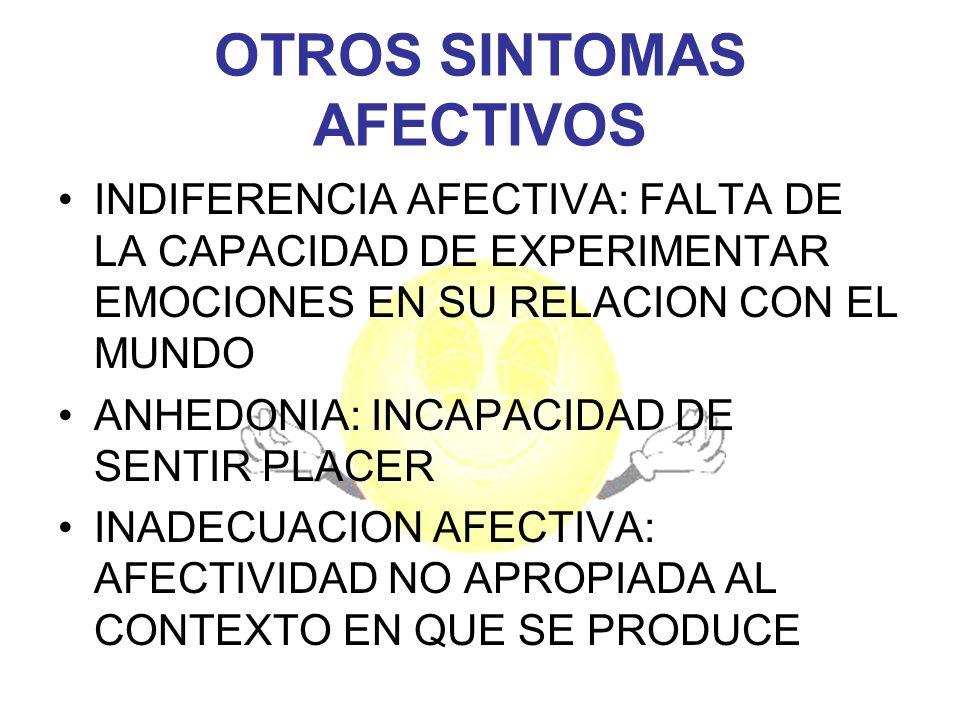 OTROS SINTOMAS AFECTIVOS