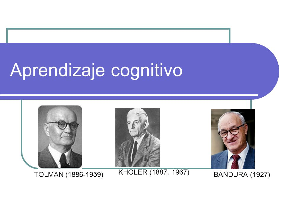 Aprendizaje cognitivo