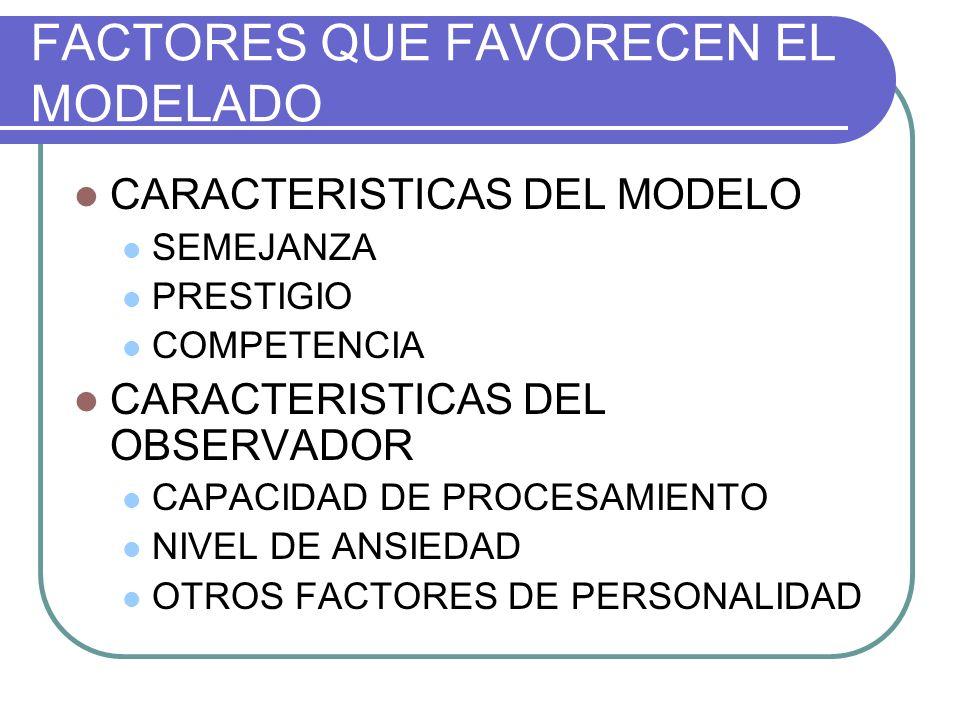 FACTORES QUE FAVORECEN EL MODELADO