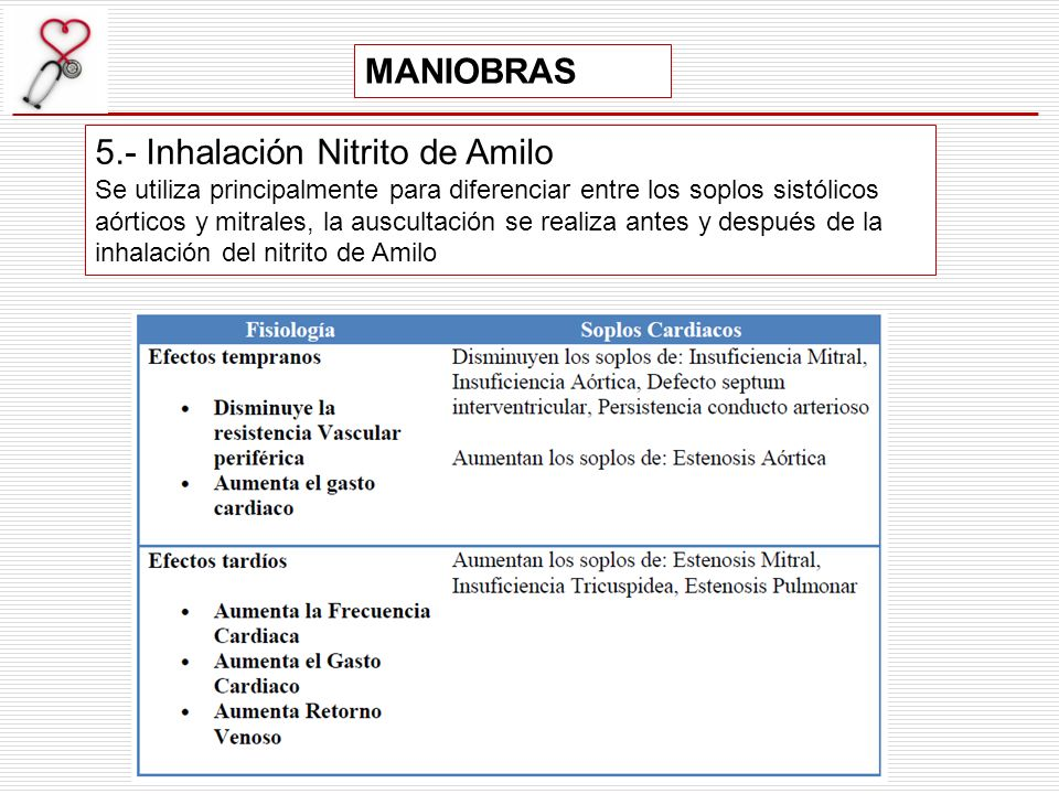 5.- Inhalación Nitrito de Amilo