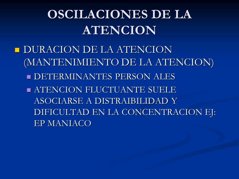 OSCILACIONES DE LA ATENCION