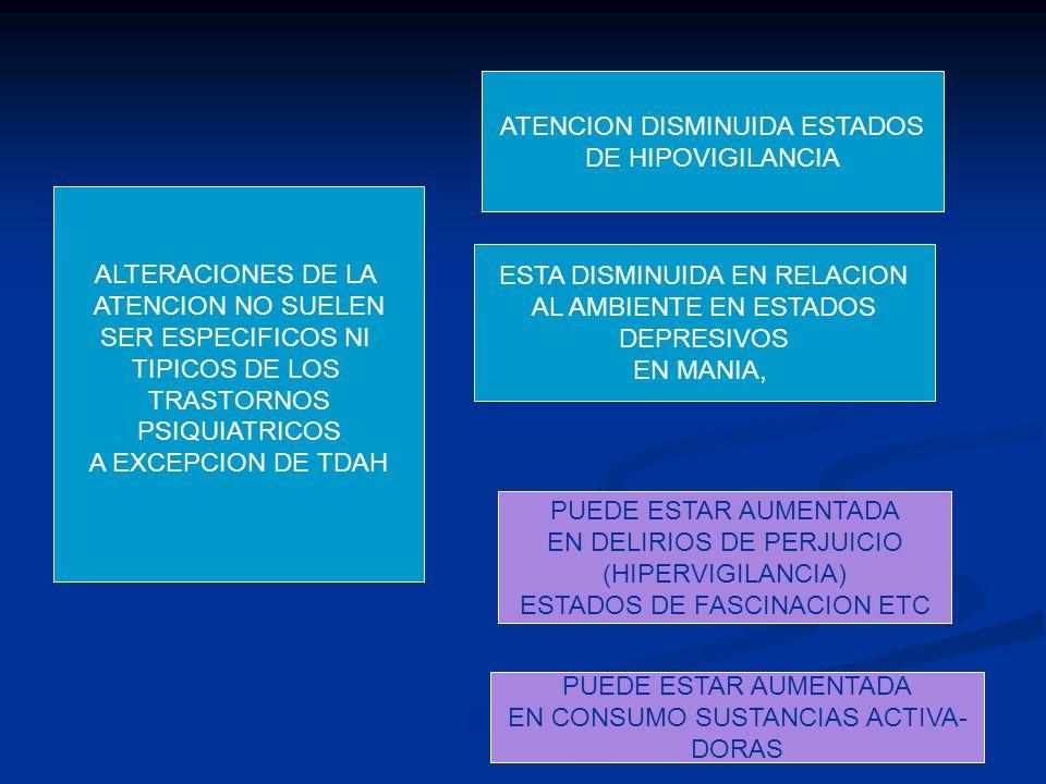 ATENCION DISMINUIDA ESTADOS DE HIPOVIGILANCIA