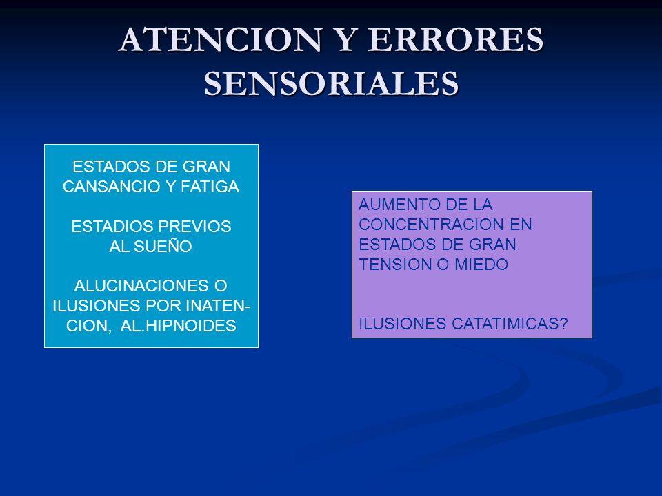 ATENCION Y ERRORES SENSORIALES