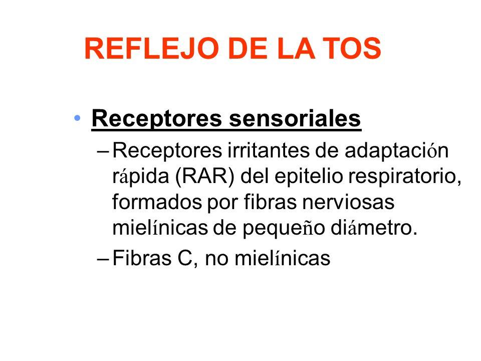 REFLEJO DE LA TOS Receptores sensoriales