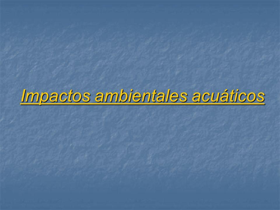 Impactos ambientales acuáticos