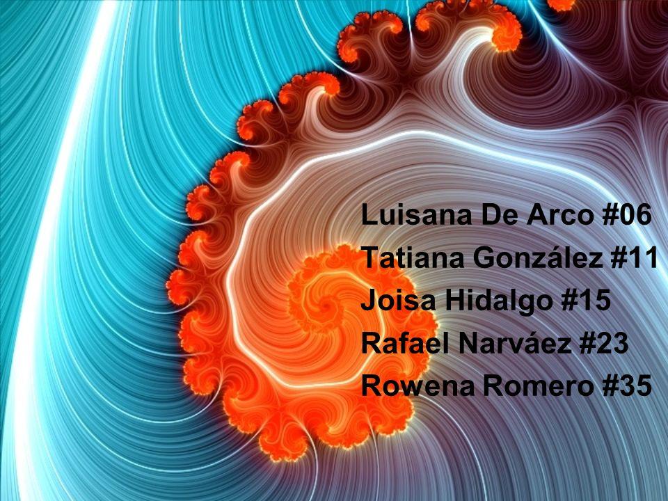 Luisana De Arco #06 Tatiana González #11 Joisa Hidalgo #15 Rafael Narváez #23 Rowena Romero #35