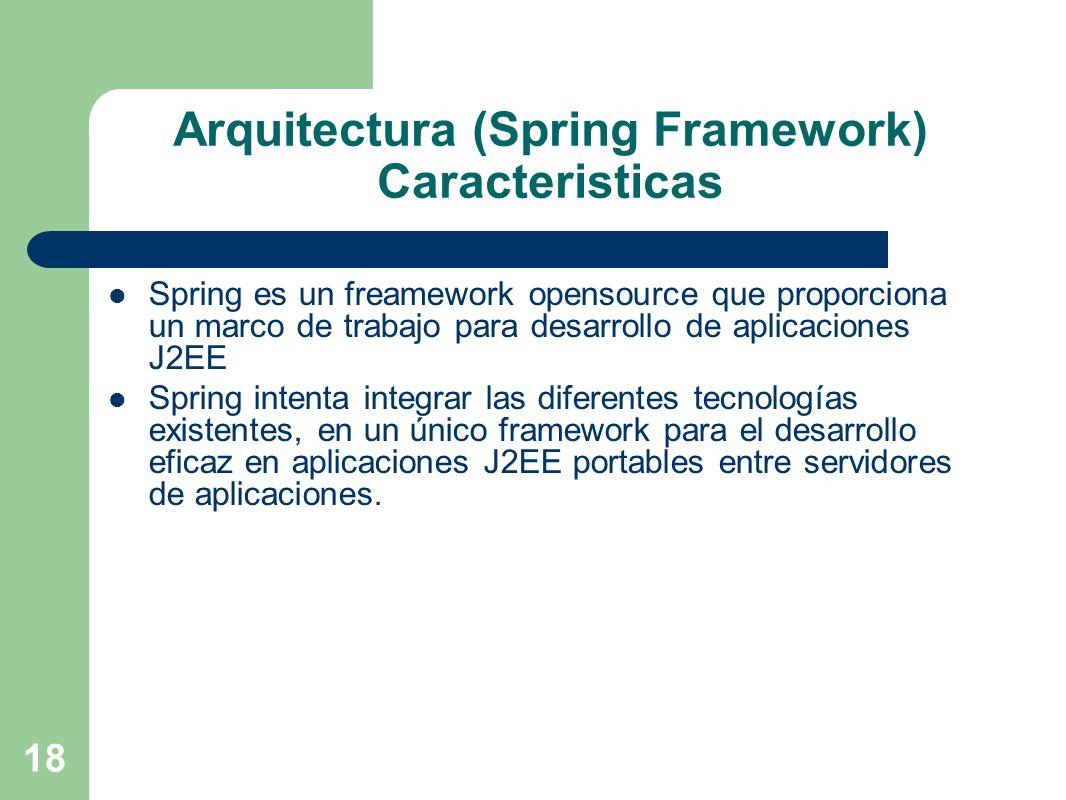 Arquitectura (Spring Framework) Caracteristicas
