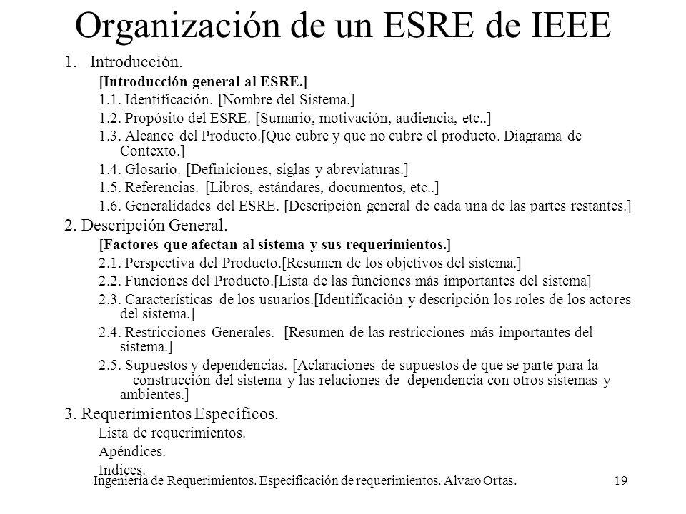 Organización de un ESRE de IEEE