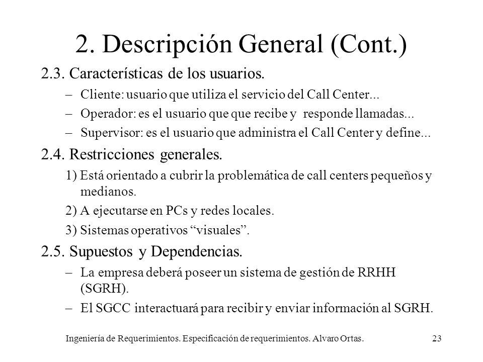 2. Descripción General (Cont.)