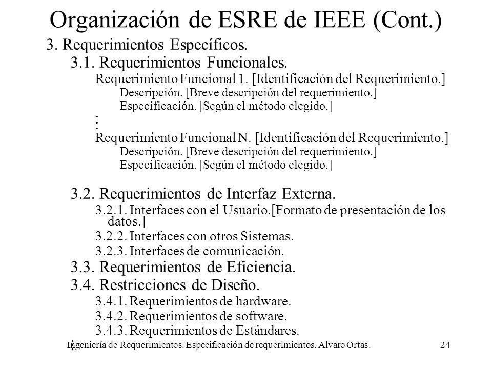 Organización de ESRE de IEEE (Cont.)