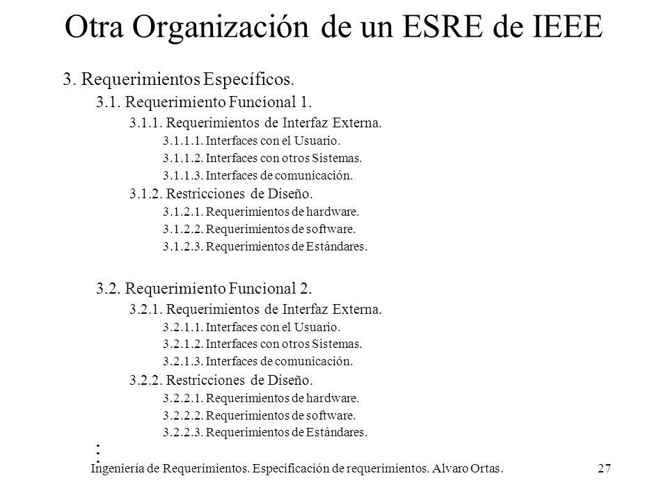 Otra Organización de un ESRE de IEEE