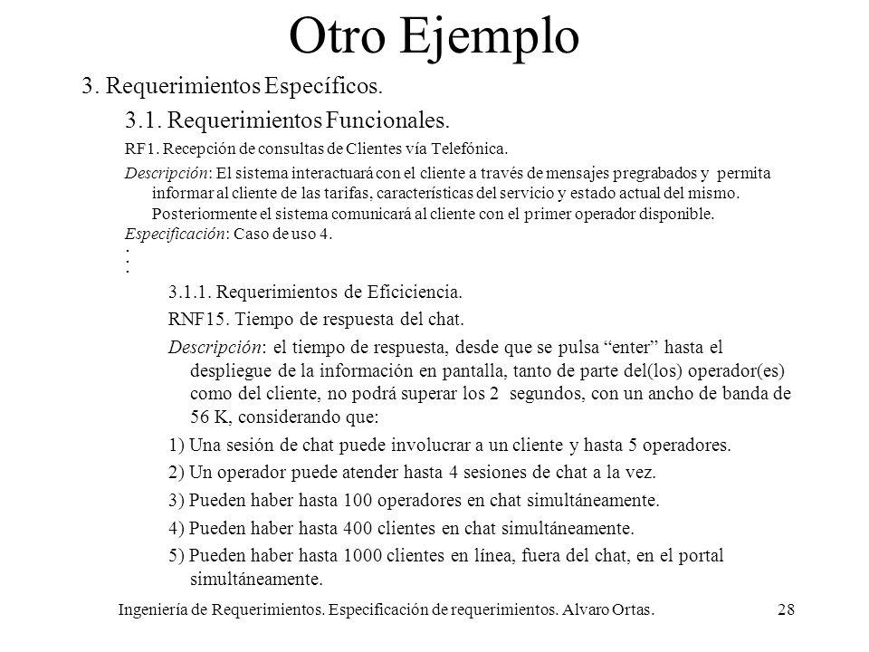 Otro Ejemplo 3. Requerimientos Específicos.
