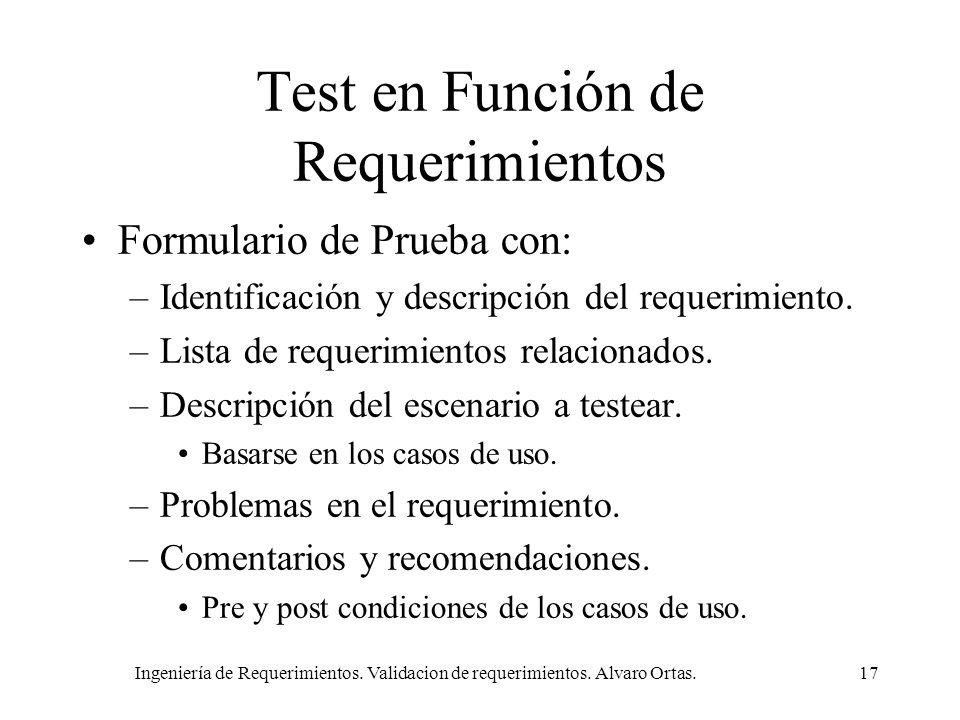 Test en Función de Requerimientos