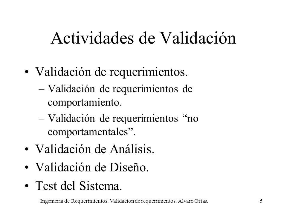 Actividades de Validación