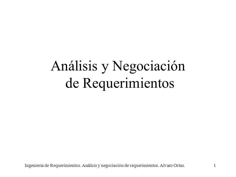 Análisis y Negociación de Requerimientos