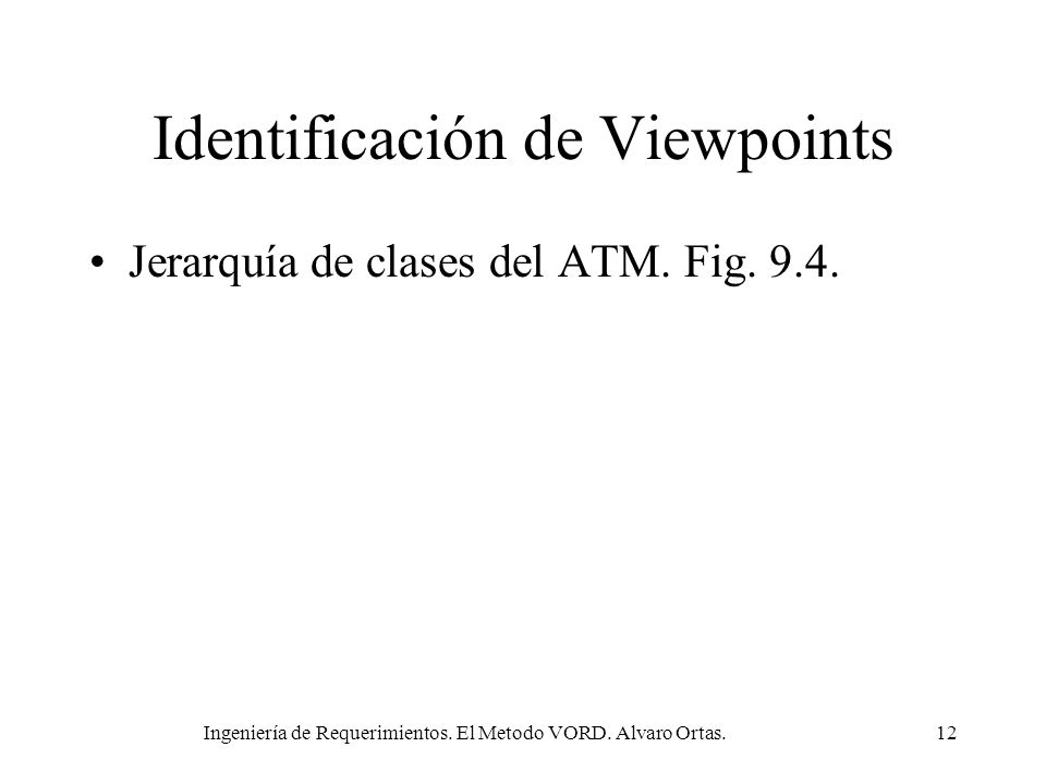 Identificación de Viewpoints