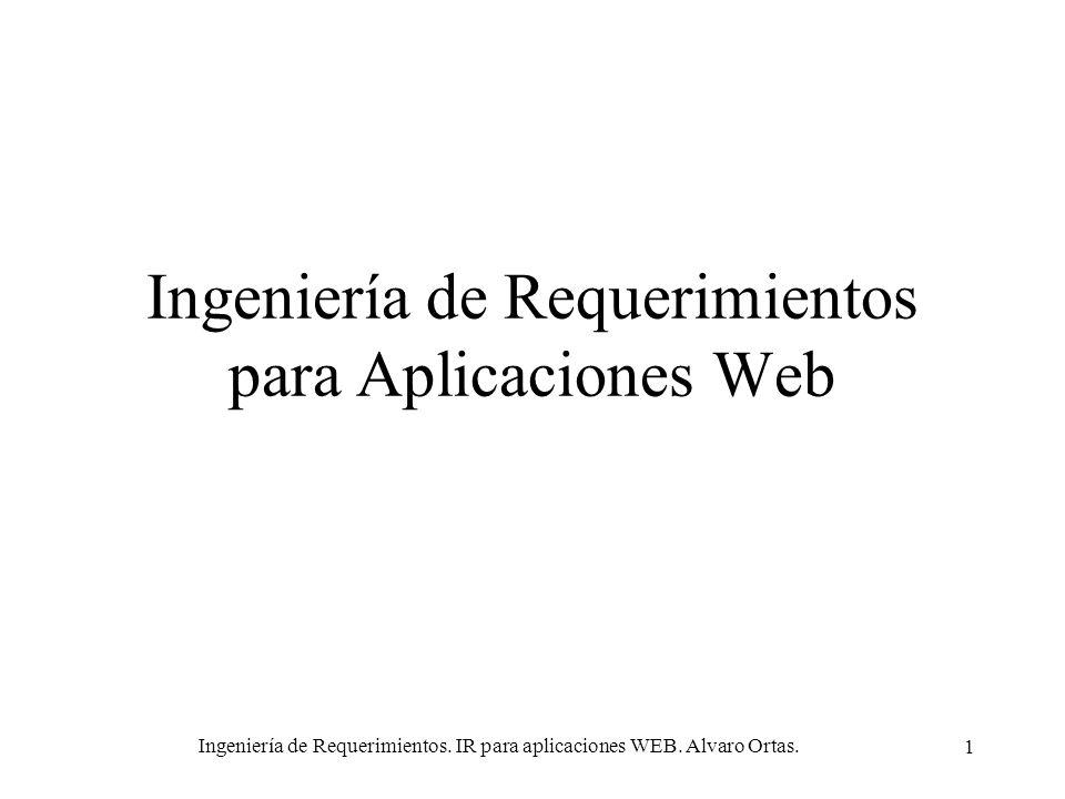 Ingeniería de Requerimientos para Aplicaciones Web