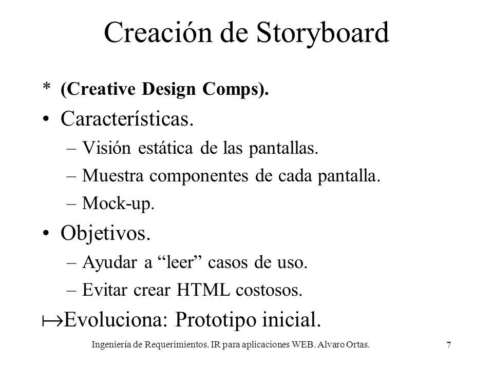 Creación de Storyboard