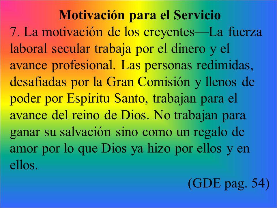 Motivación para el Servicio