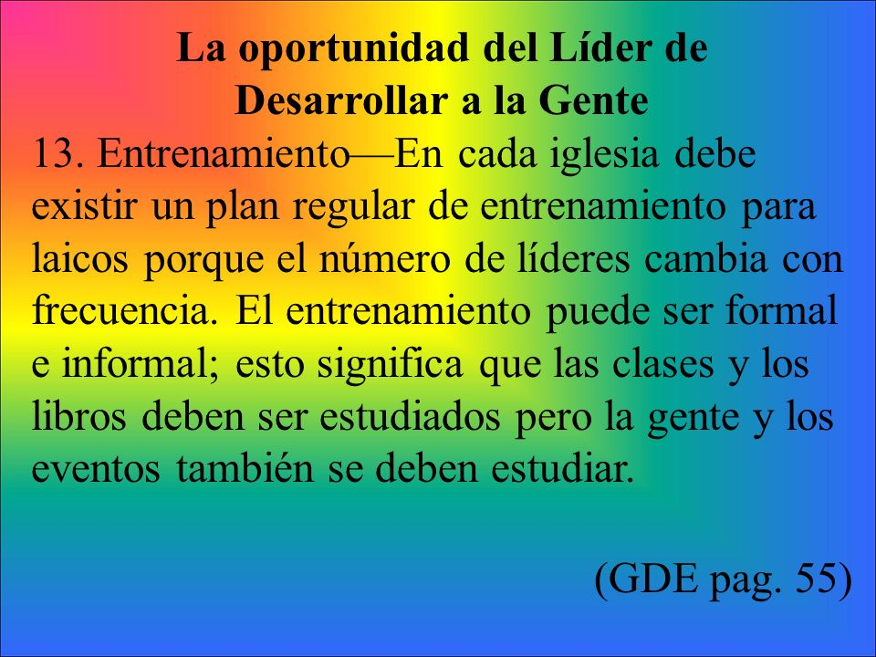 La oportunidad del Líder de