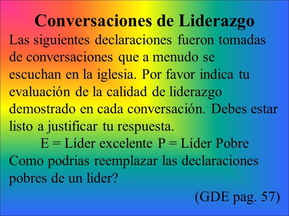 Conversaciones de Liderazgo