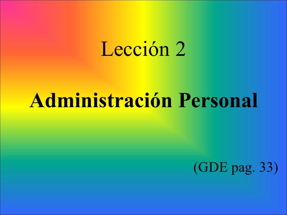 Administración Personal