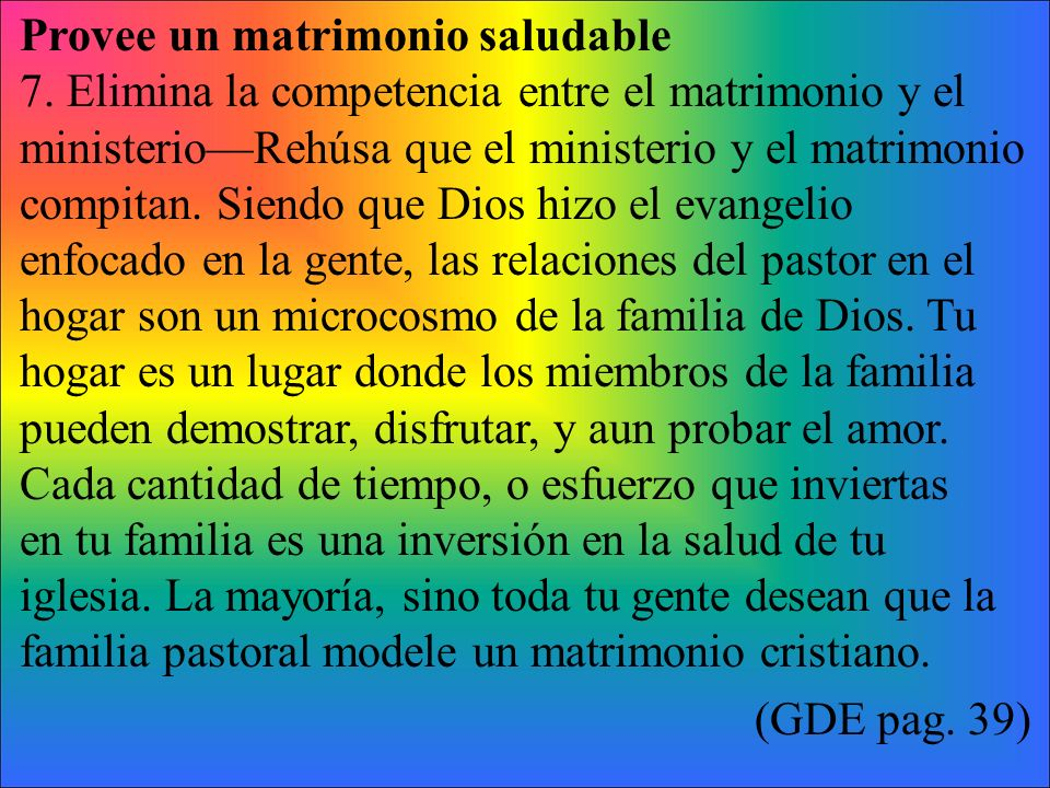 Provee un matrimonio saludable