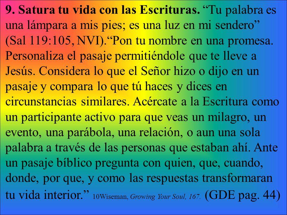 9. Satura tu vida con las Escrituras